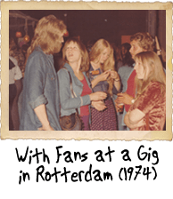 With Fans at a Gig in Rotterdam (1974)