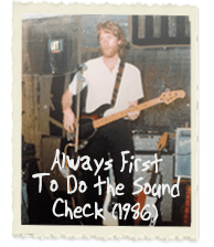 Always First To Do the Sound Check (1986)